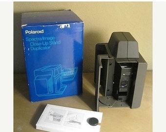 On Sale Vintage Polaroid Spectra Image Close Up Stand Duplicator, New Condtion, Original Box