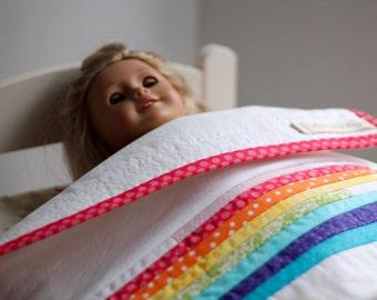 Rainbow Doll Quilt
