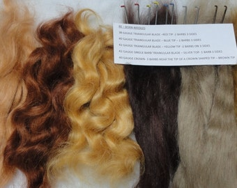 re-born pack= 10 rooting needles+60g Mohair (appox 2oz)