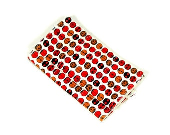 2 baby burp cloths, organic burp cloths, ecofriendly burpies, red burp cloths, organic baby gift, French terry burpies, neutral baby gift,