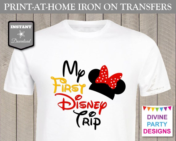 Instant download print at home red girl mouse printable for Instant t shirt printing
