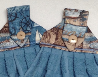 Coastal Hanging Kitchen Towels