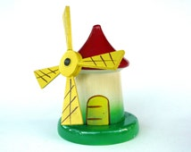 Vintage Wood Windmill Money Box, French Wooden Piggy Bank, Vintage Money Box, Windmill Money Bank, Saving Bank, Childs Money Box, Coin Bank