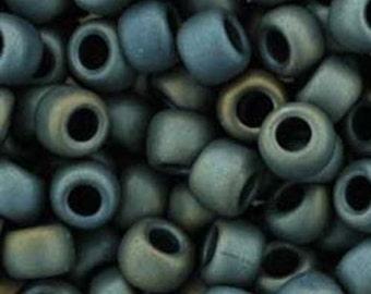 Toho 8/0 Matte Iris Gray Round 8-613 Tube