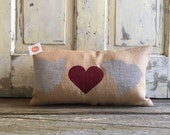 Pillow Cover   State Pillow   Choose 2 states   Burlap Pillow   Gift for Mom, Dad   Boyfriend   Graduation Gift   Moving Gift   Wedding Gift