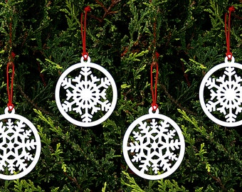 Christmas Decorations Snowflakes Set of 4