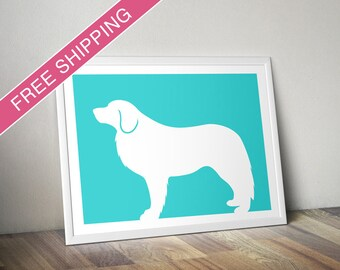 Leonberger Print - Leonberger Silhouette - dog art, dog gift, modern dog home decor