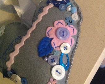Decorative Felt Hearts (Large)