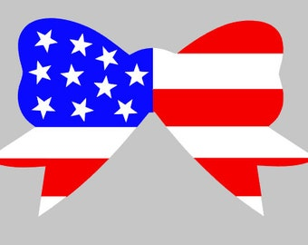 American Flag Bow Decal