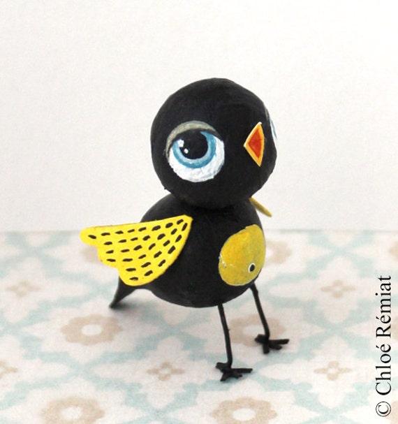 Mini oiseau noir et jaune for Oiseau jaune et noir