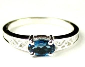 Summer Sale, 30% Off, KSR362, London Blue Topaz, 925 Sterling Silver Ring