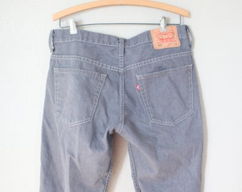 vintage gray levis  cut off shorts 514 denim jeans 32