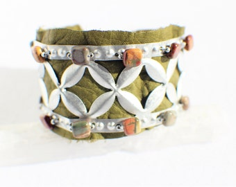OOAK elfin leather Cuff