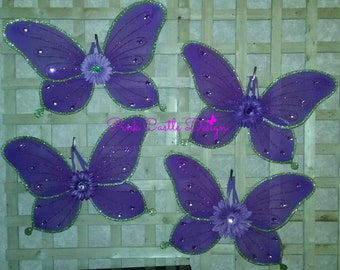 Purple Wings,Butterfly wings,Princess Wings,Size LARGE,Costume Wings,Sparkly,Wings,Halloween,Costume,Alas de Mariposa,Ready to Ship,PCD0232
