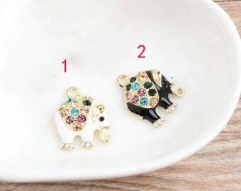 10 pcs of antique gold color set auger elephant charm pendants 15x20mm