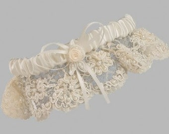 Beaded Lace Garter