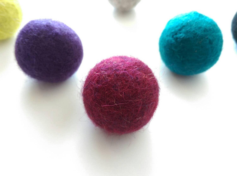 Cat Toys Balls : Felted wool ball cat toys bouncy balls catnip