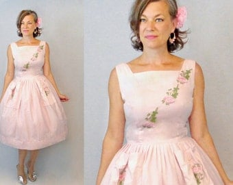 50s Dress / 1950s Dress / Sun Dress / 50s Day Dress / 1950s Day Dress / 50s Sun Dress / 1950s Sun Dress / 50s Sundress / 1950s Sundress