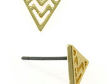 Chevron Patterned Stud Earrings