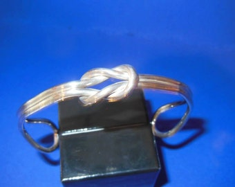 Sterling Silver Lover's Knot Cuff Bracelet