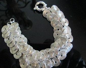 Egyptian Coiled Link Bracelet