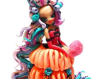 "Handmade polymer clay figurine ""Zuccherina"""