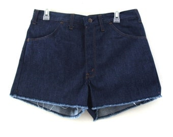 Vintage 70s jean shorts cut offs thumbs up sears 80s