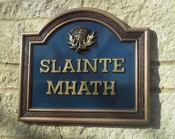 Vintage style large classic house name plate cold cast pewter for Classic house name plates