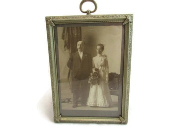 Antique Framed Wedding Photo