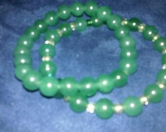 FREE SHIPPING Green adventurine gemstone bracelets
