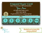 Dove Chocolate Frequent Buyer Card, Business Card, Direct Sales Marketing, Independant Consultant, Directs Sales Business Card