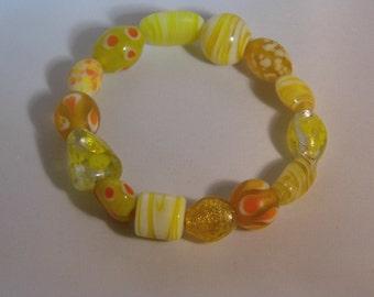 Summer zest lamp work beads