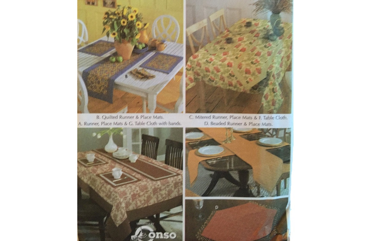 Uncut Simplicity 5530 Tablecloth Runner Placemats