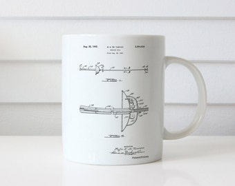 Fencing Sword Patent Mug, Sports Decor, Sword Mug, Sports Mug, Unique Gift Idea, Spanish Decor, PP0806