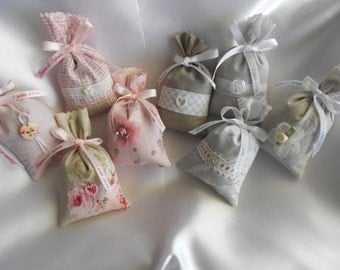 Lavender bag with personalized ribbon for gift-weedding BirthDate / Lavender sachet with knotting customized for baptism wedding Ribbon