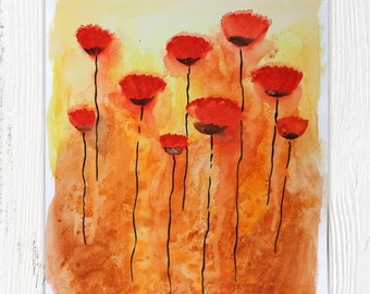 Red Poppy Sunset