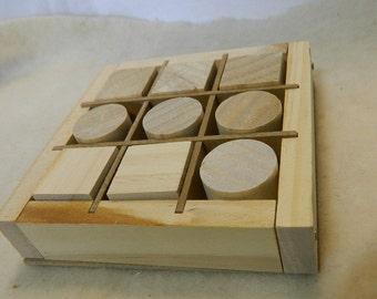 Vintage Wood Tic Tac Toe