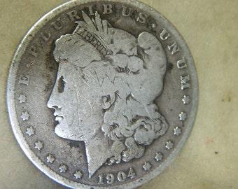 Antique Silver Dollar