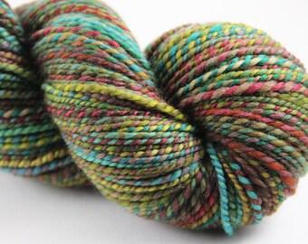 Handspun Yarn - Sport Weight  2ply- Superwash Merino: Missouri Loves Company
