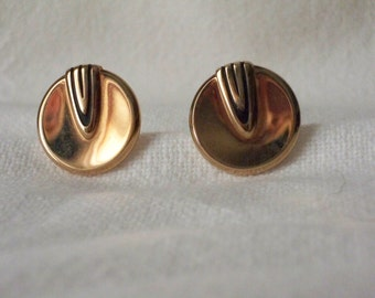 1950s Vintage Jewelry Cuff Links made by Hickok with Modern type design