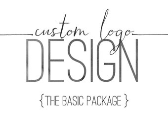 Logo Design Package - Custom Logo Design - Business Logo - Watercolor Logo - Graphic Design Logo Package - Logo Branding - Modern Logo