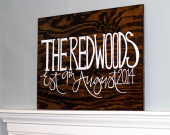 Calligraphy on Stained Wood/ Custom Signage