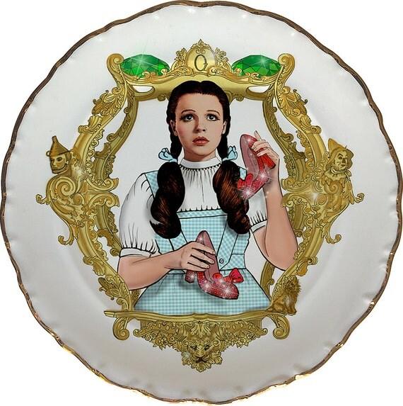 Dorothy OZ - Judy Garland - Vintage Porcelain Plate - #0438