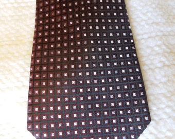 "Men's necktie is 57"" long, 4"" at widest point, 100% silk, prof. cleaned/pressed,  ready to wear"