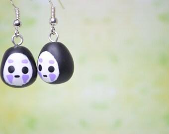 Studio Ghibli Inspired No-Face or Kaonashi Earrings