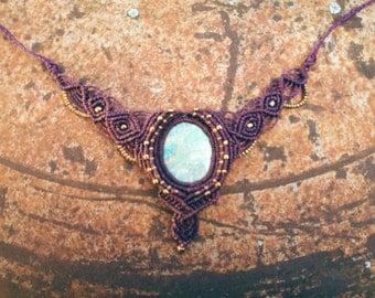 Faery sister sky heaven rubin ziosit gipsy boho godess macrame healing necklace