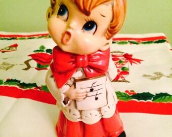 Vintage Josef Original Christmas Choir Boy Paper Mache Japan