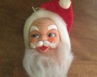 Vintage Christmas Santa Head Ornament Made in Japan