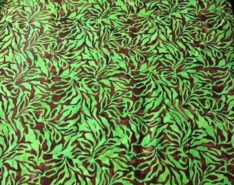 Princess Mirah Batik 5128 Cactus Green UF5 patchwork & quilting fabric