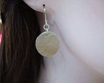 Smaller Sterling Silver Disc Earrings